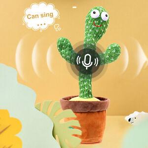 Dancing Cactus Plush Toy Electronic Shake Spin Cute Dance Doll kids Toys Gift
