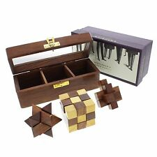 Traditional Wooden Puzzles Executive Toy Secret Santa Gift Ideas for Him Grandad