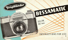 1960s Voigtlander Bessamatic 35mm Camera Owners Instruction Manual