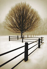 CANVAS ART - Solitude by David Lorenz Winston Tree Fence Winter Landscape 19x14