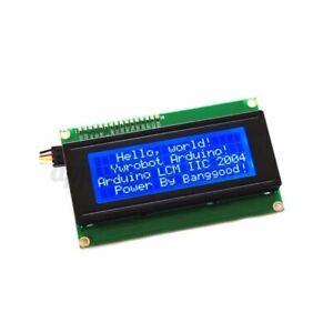 LCD Module Display For Arduino Blue Serial IIC/I2C/TWI 2004 204 20X4 Character #