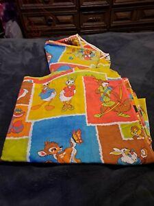 Rare Vintage Disney Twin Bed Sheets   Alice in Wonderland, Bambi, Robin Hood