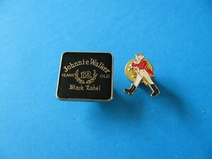 2, Johnnie Walker Scotch Whisky / Whiskey Pin Badges. Special Price !