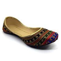 Indian Handmade Ballerina Ethnic Women's Designer Colorful Stripes Desi Mojari