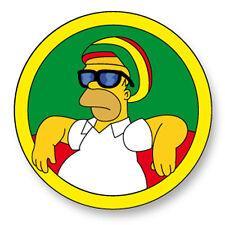 Magnet Aimant Frigo Ø38mm Homer Simpson Bob Marley
