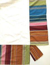 "Pottery Barn Teen Pura Vida FULL Bed Skirt Bright Stripe 12"" Drop Orange Red"