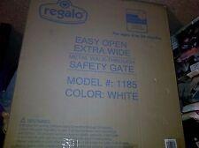 Regalo Easy Open Extra Wide Metal Walk Through Safety Gate Doorway Stairway Dogs