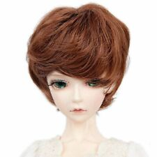 """WG89D23 8-9/"""" Brown short wig for 1//3 BJD SD Doll Super Dollfie"""