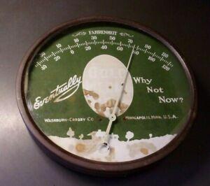 "Vintage GOLD MEDAL FLOUR MINNEAPOLIS, MINN Advertising Thermometer 9"""
