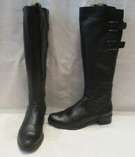 CLARKS BLACK LEATHER LIKEABLE ME ZIP UP KNEE HIGH BOOTS UK 5.5D (889)