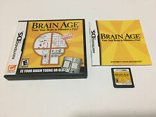 Brain Age: Train Your Brain in Minutes a Day (Nintendo DS, 2006) Complete