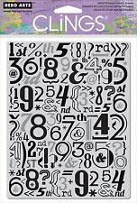 Tampon adhérente HERO ARTS FOND CHIFFRES cartes scrapbooking number cling stamp