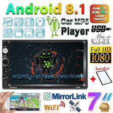 "2Din 7"" Android8.1 Autoradio Stereo WIFI GPS FM BT MP5 Andriod/IOS Link Specchio"