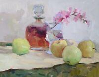 Still Life oil painting original Art framed signed impressionism Emiliya Lane