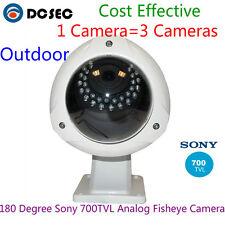 Sony 700TVL 180 degree Analog Wide Angle Outdoor IP68 Fish eye CCTV Camera Video
