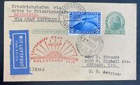 1931 Germany Graf Zeppelin LZ 127 Polar Flight  PC Cover To Chicago Usa Sc#41