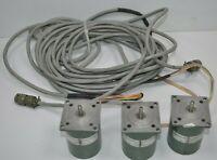 Lot of 3 Sigma Instruments Stepping Motors w/ Cords & Connectors 20-2235D-28175