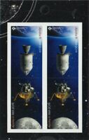 bq. APOLLO 11 = 50th = Front Booklet page of 4 (2 Tête-Bêche Pairs) Canada 2019