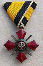 RARE BULGARIAN CROSS ROYAL ORDER FOR MILITARY MERIT 5 cl 1933 KING BORIS III
