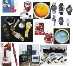 Grosses UHRENPAKET 10 teilig, Armbanduhren, Kinderuhren, Wecker, Wanduhren