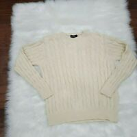 Blumarine Uomo Clable Knit Men's Sweater Beige 100% Cotton Size M Made in Italy