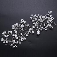 Pearl Flower Vine Headband Elegant Wedding Bridal Tiara Hair Headpiece Hair band