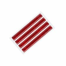 AMON V756 Car Safety Bumper Door Guard Protector Side Reflector Red - 4 Piece