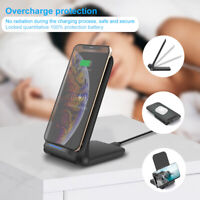 15W Fast Qi Wireless Charger Dock Pad Stand For i Phone 11 11Pro 8 X 8Plus XS XR