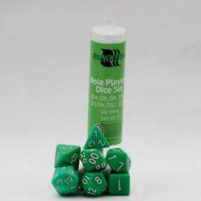 BLACKFIRE Rol Cubo 16mm Verde (7) Juego de Dados Cubo W4 W6 W8 W10 W12 W20