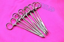 """6 PC MOSQUITO HEMOSTAT FORCEPS 5"""" CURVED STAINLESS STEEL SURGICAL MEDICAL"""