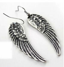 Tibet Silver Womens Fashion Angel Wings Earrings Ladies Drop Dangle Earrings