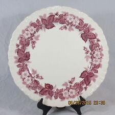 "Wedgwood Bramble luncheon plate 9 1/4"" pink leaves flowers berries shell edge"