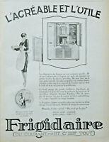 PUBLICITÉ DE PRESSE 1926 FRIGIDAIRE RÉFRIGÉRATEUR AGRÉABLE ET UTILE