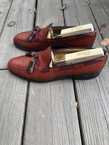 Allen Edmonds Grayson  Leather Shoes Tassel Loafers 8297 Made in USA 10.5C