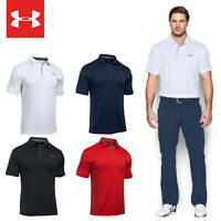 UNDER ARMOUR Tech Polo Herren Funktion Poloshirt Playoff Tour Golf Sport 1290140