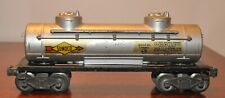 Lionel 2465 Sunoco Tank Car with Flying Shoes Brown FIber Boards1946