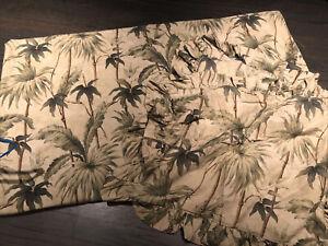 3pc Ralph Lauren Belmont Oaks Palm Trees F/Q Duvet + 2 Ruffled Shams