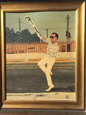 Ray Houlihan Illustration & Comic Artist, Self Potrait Absract Oil Painting Rare