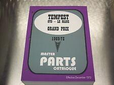 GTO TEMPEST MASTER PARTS CATALOG 69-73 Dec 72 Printing