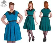 Hell Bunny Brooke Blue Rockabilly Swing Pinup Day Tea Dress 2XL-4XL