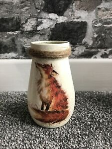 Homemade Fox design Decoupage Vase using recycled jar Small Jar