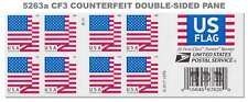 New 5263a (CF3) Postal Counterfeit Flag Pane of 20 BCA Design 2018 MNH - Buy Now