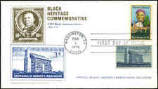 US FDC #1744 Combo Historical Americana Postal Commemorative Cachet  Washington