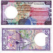 SRI LANKA 20 Rupee Banknote World Paper Money aUNC (Foxing) Currency p93b Note