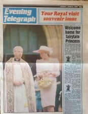 Princess Diana UK Evening Telegraph 1989 Return Northampton Freedom City Award