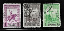 HICK GIRL- USED  PORTUGAL-INDIA STAMPS   SC#439,441-2   1938 ISSUES       H1048