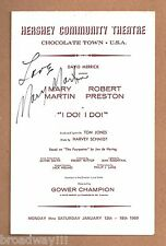 """Mary Martin (Signed) """"I DO! I DO!"""" Robert Preston / Schmidt & Jones 1969 Program"""
