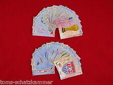 Panini WM 2002 alle 32 Wappen + Nr. 1 - 3 = 35 Glitzer Sticker komplett WC 02