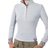 Essex Classics Ladies Performance Danny & Ron's Rescue Show Shirt- White SALE