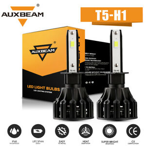 AUXBEAM H1 60W 6000LM LED Headlight Kit High or Low Beam Bulb Xenon 6000K